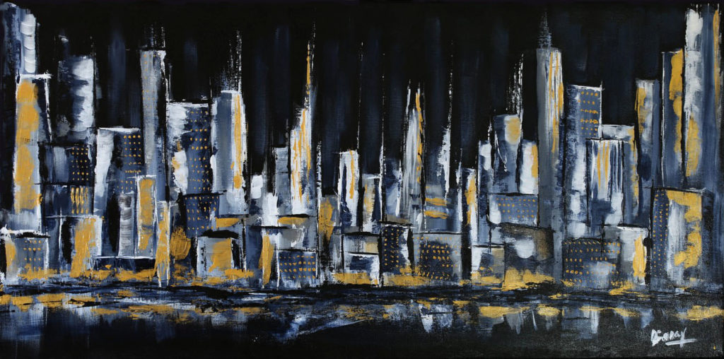 Black city - 40x80cm